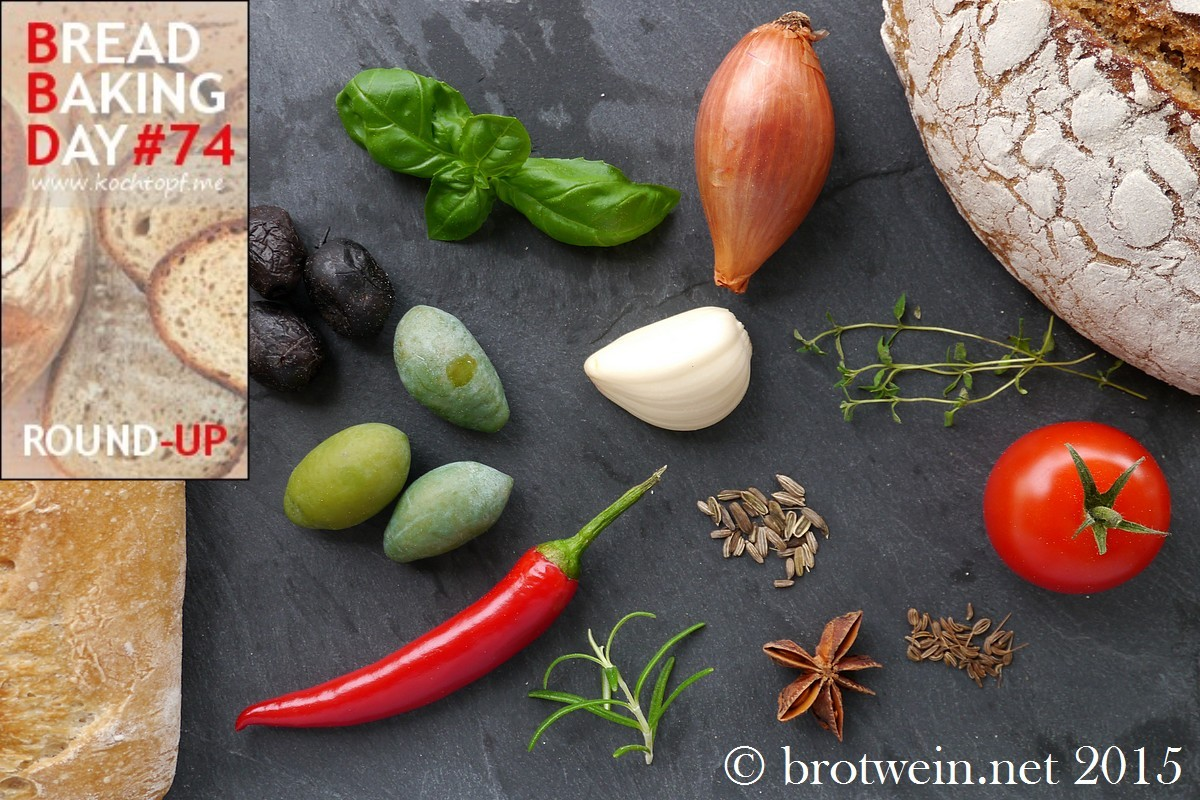 Herzhafte Brote / savoury breads - Bread Baking Day BBD #74 - Round up