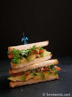 Club Sandwich Varianten - Huhn, vegetarisch, Avocado, Thunfisch