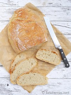 No Knead Bread als Topfbrot - Brot ohne kneten